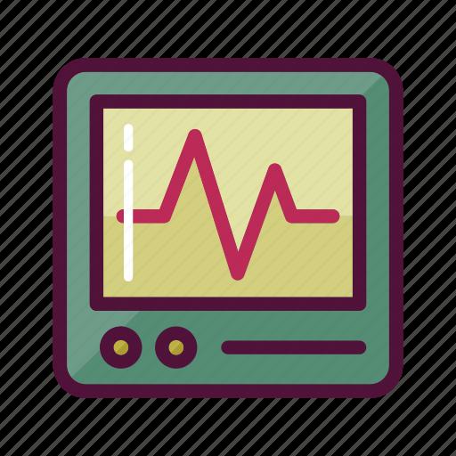ambulance, cacrdiology, healthcare, heart monitor, heartbeat, hospital, pulse icon