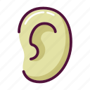 deaf, dumb, ear, hearing, otolaryngology, pinna, sound icon