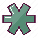 ambulance, asterisk, clinic, first aid, hospital, medicine, pharmacy icon