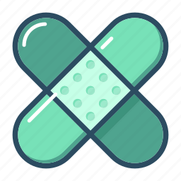 band, bandage, first aid, injury, medical, patch, plaster icon