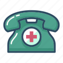 address, ambulance, clinic, healthcare, hospital, phone, telephone icon