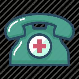 address, ambulance, clinic, healthcare, hospital, phone, telephone icon