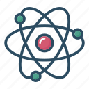 atom, chemistry, education, laboratory, molecule, science, study icon