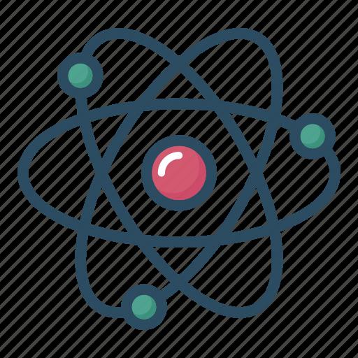 atom, chemistry, education, laboratory, molecule, science, study icon