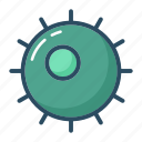 bacterium, cell, egg, fertilization, molecule, ovum, virus icon