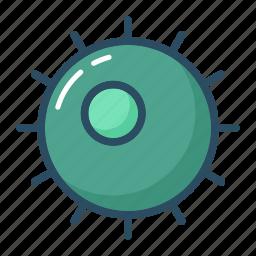 bacterium, cell, egg, fertilization, molecule, ovum, virus icon
