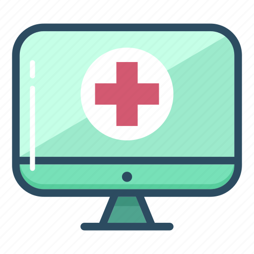 computer, display, healthcare, hospital, medical, medicine, monitor icon