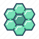 apitherapy, bee, beehive, hexagon, honey, honeycomb, nature icon