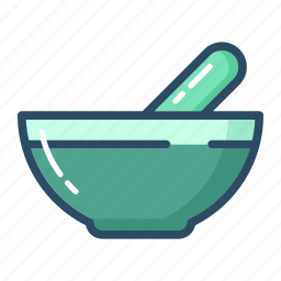bowl, cooking, healthcare, medicine, pound, pounder, treatment icon