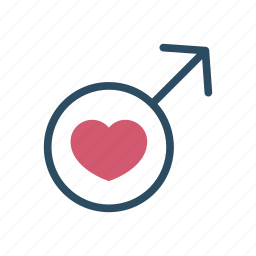 gender, gender symbol, heart, love, male, man, sex icon