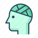 bandage, bandaged, head, healthcare, injury, medicine, patient icon