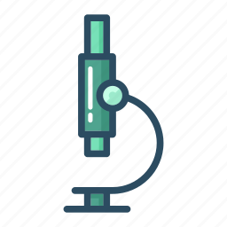 education, experiment, lab, laboratory, microscope, research, science icon