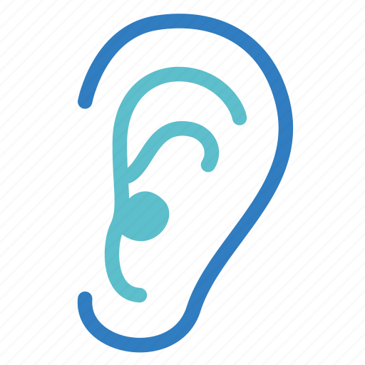 audiology, auditory canal, deaf, ear, hear, hearing, listen icon