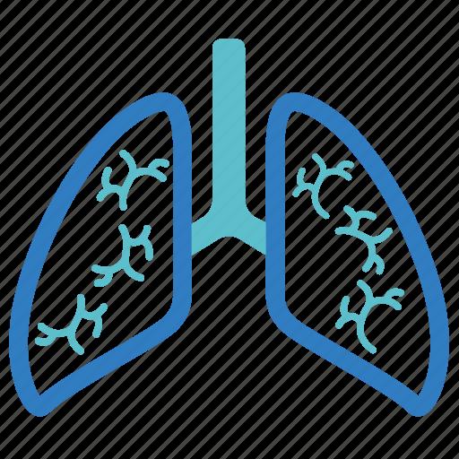 anatomy, breath, lungs, organ, pulmonology, respiratory, wreath icon