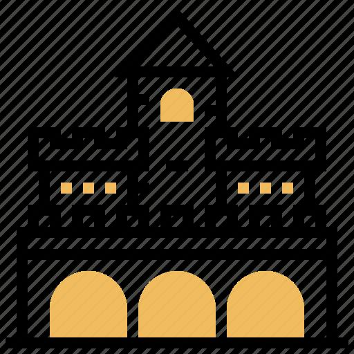antique, battlement, building, castle, places icon