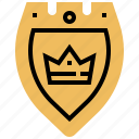 defense, knight, shield, warrior, warship icon