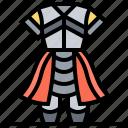 armor, conqueror, knights, medievals, suit icon