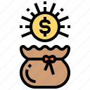 bag, budget, coin, money, treasure icon