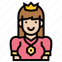 empress, imperial, medieval, queen, royal icon