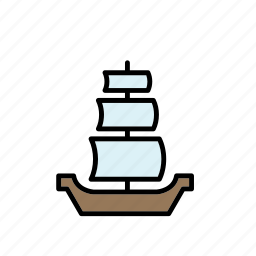mediaeval, medieval, ship, times, transport, vessel icon