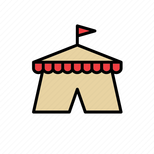 big top, circus, marquee, medieval, middle ages, tent, times icon