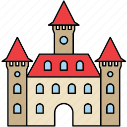 architecture, building, castle, construction, fortress, medieval, middle ages icon