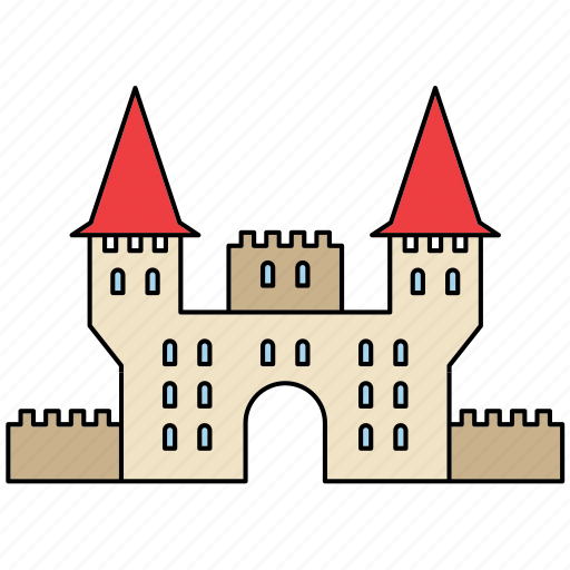 Architecture, building, castle, construction, fortress, medieval, middle ages icon - Download on Iconfinder