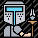 spear, pike, weapon, warfare, warrior icon