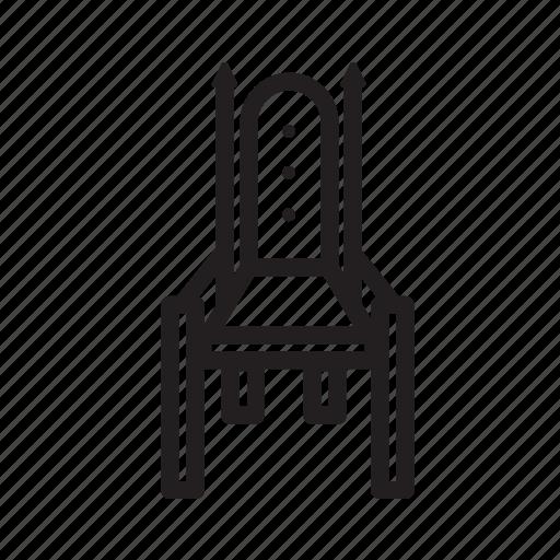 chair, king, kingdom, medieval, throne icon