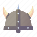 armor, barbarian, battle, helmet, medieval, viking icon