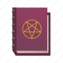 book, devil, magic, medieval, pentagram, witch icon