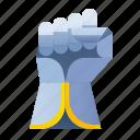 gaunlet, glove, hand, hold, knight, medieval, wrist icon