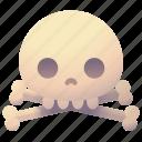 bones, danger, death, hazard, pirate, skeleton, skull icon