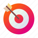 aim, arrow, attack, medieval, precision, train icon