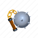 flail, medieval, morning, star, weapons icon