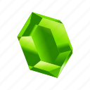gem, green, minerals, money, stone, treasure icon