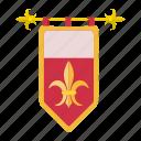 cartoon, coat, crown, heraldic, heraldry, medieval, ornament icon