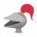 cartoon, feather, guard, helmet, iron, knight, medieval
