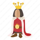 cartoon, character, crown, king, medieval, royal, royalty icon