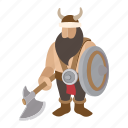 beard, cartoon, culture, male, shield, viking, warrior icon