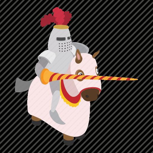 cartoon, character, helmet, horse, knight, spear, warrior icon