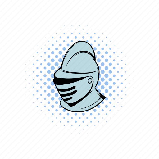 comics, guard, helmet, iron, knight, medieval, soldier icon