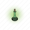 cap, comics, flask, glass, liquid, magic, substance icon