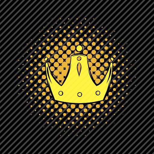 authority, classic, comics, coronation, crown, gold, jewelry icon