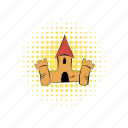building, castle, comics, fortress, kingdom, medieval, tower icon