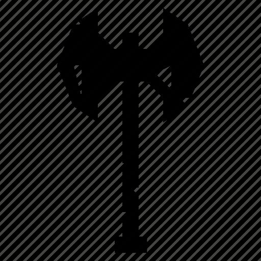 axe, battle axe, battleaxe, medieval, viking axe, war axe, weapon icon