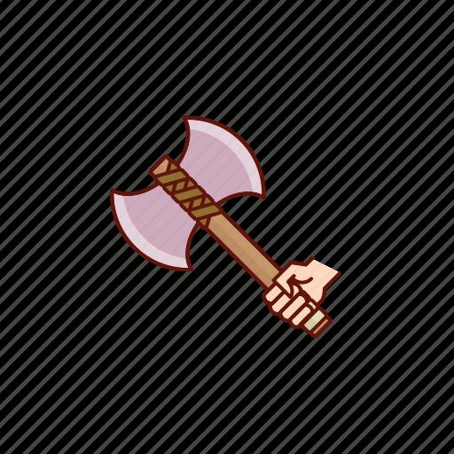 axe, battle, medieval, viking icon