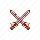 battle, fight, medieval, sword, swords icon