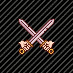 battle, fight, medieval, sword, swords icon