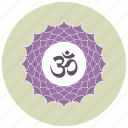 hindi, marathi, nepali, om, sign icon